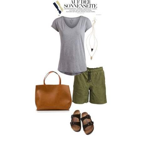 grey tee weekend look