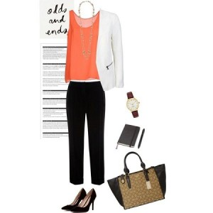 orange office wear