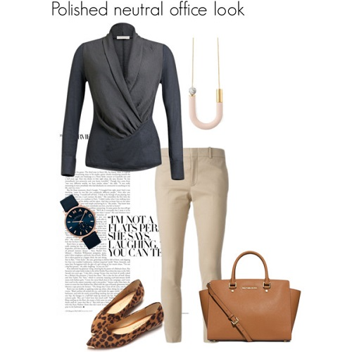 polished neutral office look