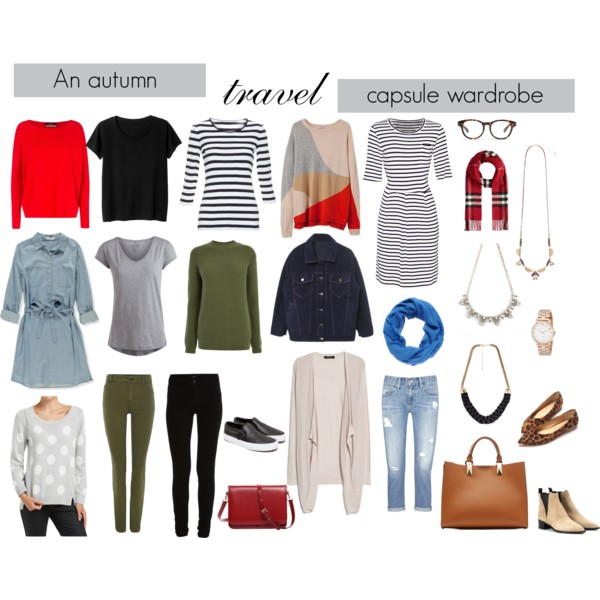 Autumn travel capsule wardrobe
