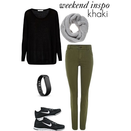 khaki leggings look