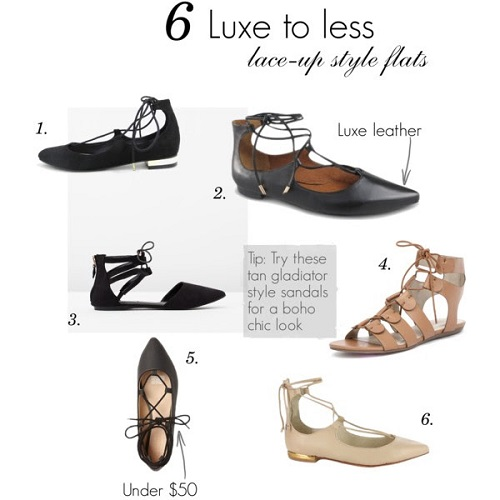 lace up flat styles