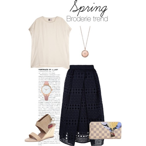 Broderie skirt outfit