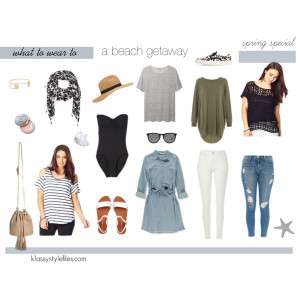 Weekend at the beach capsule wardrobe