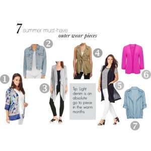summer outer wear pieces